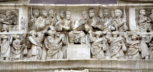 Арка Константина. Фрагмент барельефа. 315 г. / Arch of Constantine. Fragment of bas-relief, 315 AD.